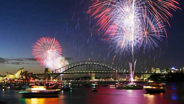 New Years Eve Fireworks Display on Sydney Harbour