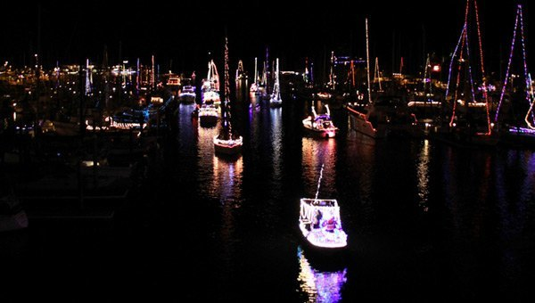 Harbour of Light Parade on Sydney Harbour