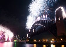 New Years Eve Fireworks on Sydney Harbour Bridge